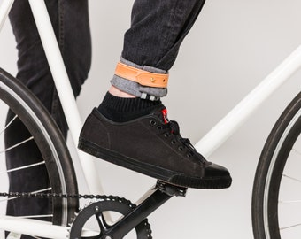 Bike Pant Cuff Strap in Leather