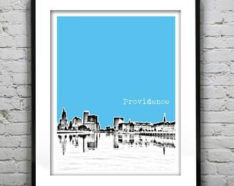 Providence Poster   Rhode Island Skyline Art Print Original