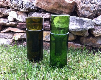 Recycled Wine Bottle Herb Grower/Candle Holder