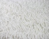 Masala Off White Stretchy Lace Fabric by the Yard, for Bridal, Arts and Crafts, Decoration - 1 Yard Style 310