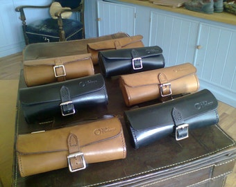 Retro style 'Velo Vintage' black leather cycle tool roll ***Only 2 left*** SALE PRICE