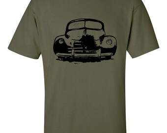 Mens Old Car T shirt -Retro Car - Classic Car Tee - S,M,L,XL (5 Color Choices)