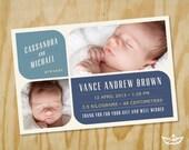 Vance Birth Announcement Printable