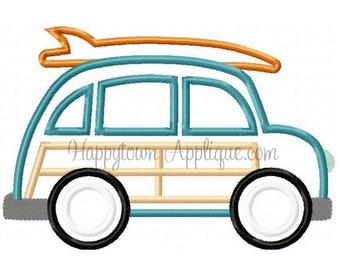 Woodie Car Machine Embroidery Design