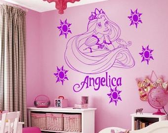 Disney Princess Rapunzel Tangled Wall Sticker Art Decal Mural Vinyl Kids room Size-S
