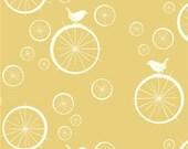 Birch Organic Fabric - Mod Basics - Birdie Spokes Sun - 1 Yard - Cotton