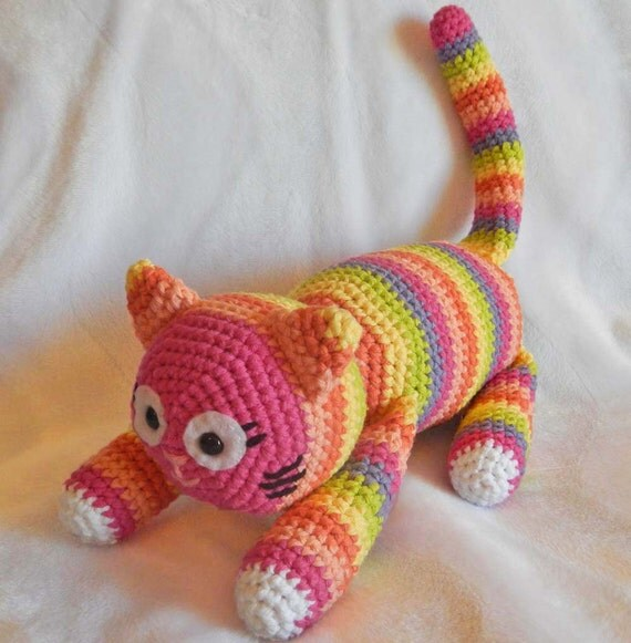 Crochet Amigurumi Pattern: Crochet Toy Cat by ...