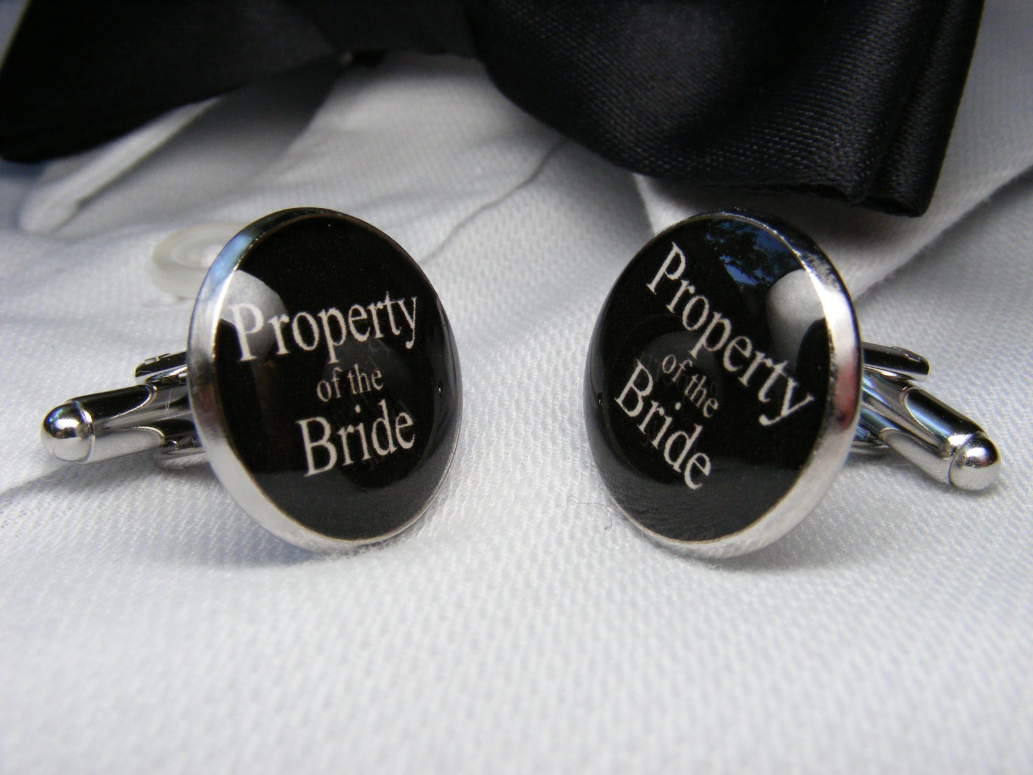 Property of the Bride Cufflinks - Grooms Corner Wedding Cufflinks ...