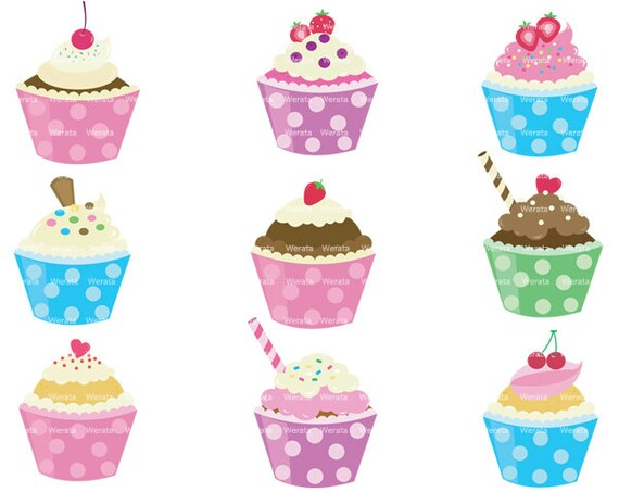 Cupcake Clipart no Background Cupcakes Clip Art Clipart