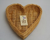 Vintage Heart Shaped Basket for Coeur A La Creme - 10-1/4 inches across x 2-1/8 inches deep.