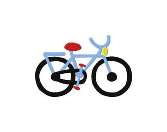 INSTANT DOWNLOAD Modern Bike Bicycle Machine Embroidery Design