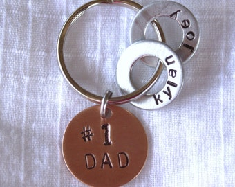 Keychain for Dad - Number 1 DAD