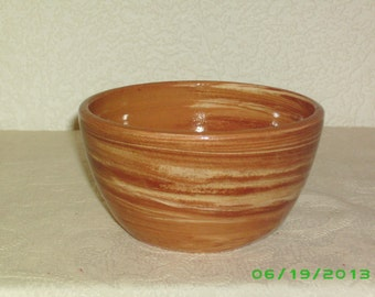 Agateware cereal bowl