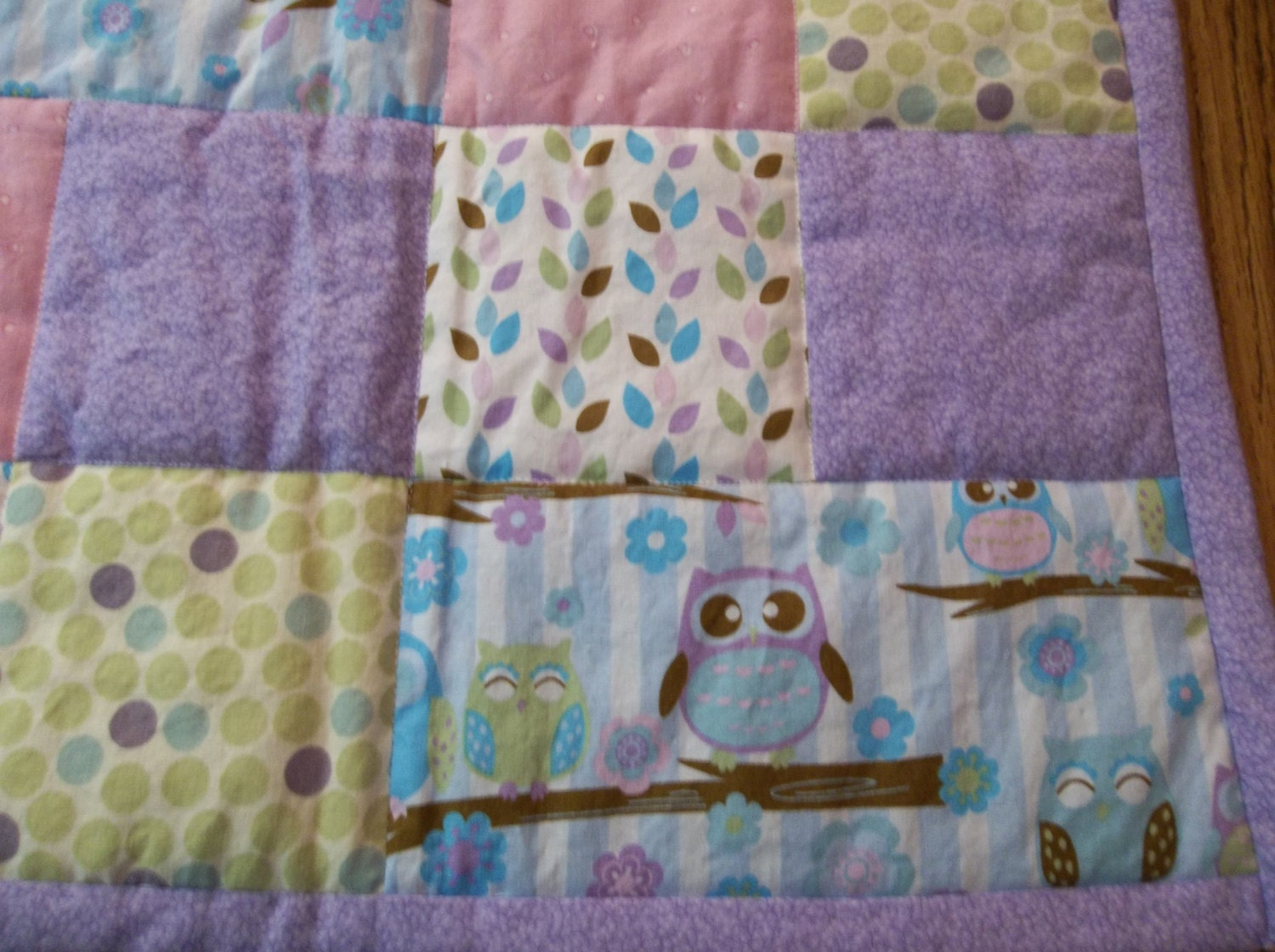 Sale Baby Owls Quilt Baby Quilt For Girl Baby Girl Crib