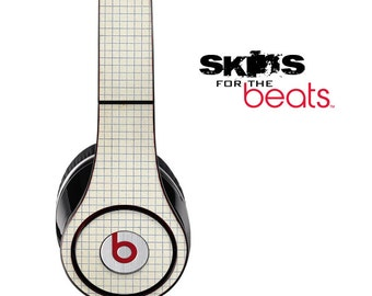 White Tile Skin for the Beats by Dre Studio, Solo, MIXR, Pro or Wireless Version Headphones