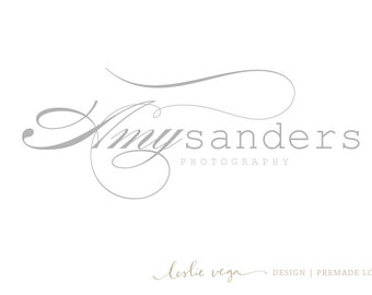 Premade Photography Logo - Elegant Grey script logo
