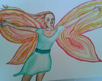 Water Color Fairy Painting