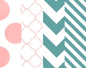 Pink/Cyan Digital Paper set-Instant download - AranzazuDesigns
