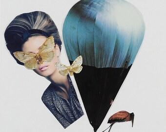 Flight - Paper Collage
