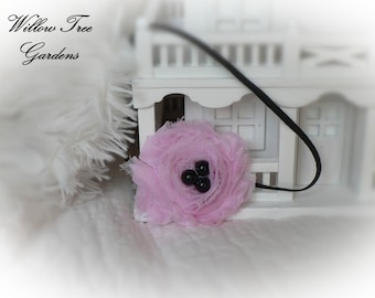 Pink Shabby Chic..Baby Headband..Frayed Rose Headband..Newborn/Infant/Toddler/Girl/Adult Headband