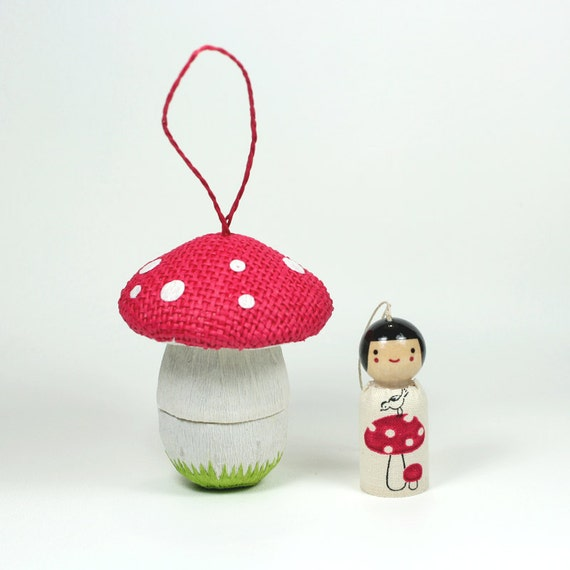 The Mushroom Man Ornament Set