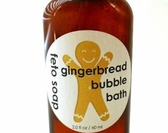 3-pack of Gingerbread Bubble Bath, stocking stuffer kids