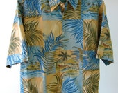 90s Reyn Spooner Mens Hawaiian Vintage Shirt - Regency Cotton Lawn - Island Tropics Men - Medium