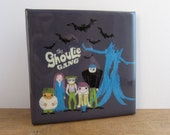 The Ghoulie Gang Halloween Tile Coaster