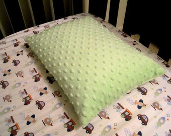 """Ready to Ship Toddler / travel size pillow case cover for 12"""" x 16"""" pillows - Minky Fabrics only"""