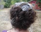 Open Spiral Aluminum Hair Stick, Shawl Pin, Scarf Pin, Bun Holder, Women, Hair Pin, Hair Pick, Long Hair Accessory  - Hair Sword