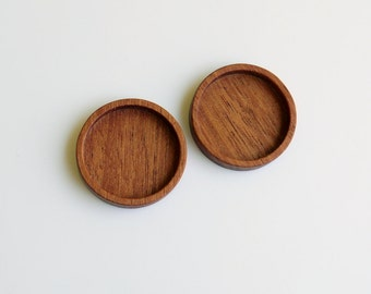Fine craftsmanship wooden mountings - Mahogany - 20 mm cavity - (Z20-M) - Set of 2