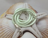 Mint Green Satin Cord Necklace for Fused Glass Jewelry