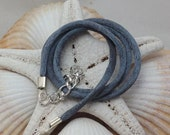Dark Grey Satin Cord Necklace for Fused Glass Jewelry