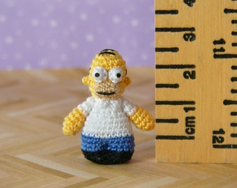 PDF PATTERN - Crochet Miniature Cartoon Man Amigurumi Tutorial Pattern