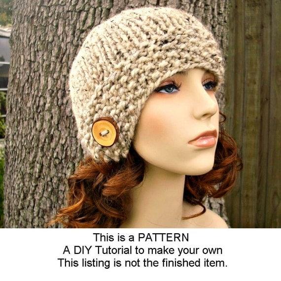 Instant Download Knitting Pattern Womens Hat Pattern Knit