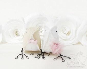 Wedding Party Decor Wedding Cake Topper Love Birds..
