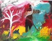 Lucid Dream Tree Avante Garde Original Painting