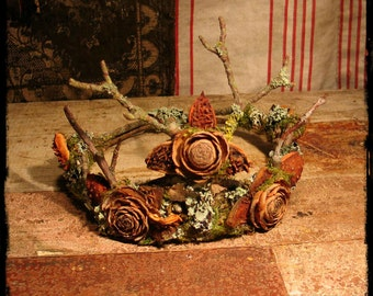 Faery Crown of natural materials Custom Order