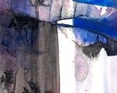"""Blue, Gray Abstract Watercolor Painting, Art, """"Abstraction 312  Original abstract water media art ooak painting by Kathy Morton Stanion EBSQ"""