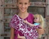 LARGE- Baby Doll Sling Carrier- American Girl Doll Carrier-Brandywine-Free Shipping When Purchased With A Wrap