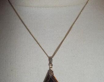Adorable DAINTY Vintage CLOISONNE Necklace