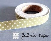 Olive Swiss Dot - Fabric Tape from Japan - washi gift wrap scrapbooking