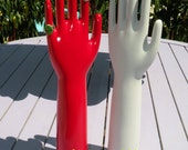 Industrial Porcelain Glove Mold Shabby Unglazed Vintage Industrial
