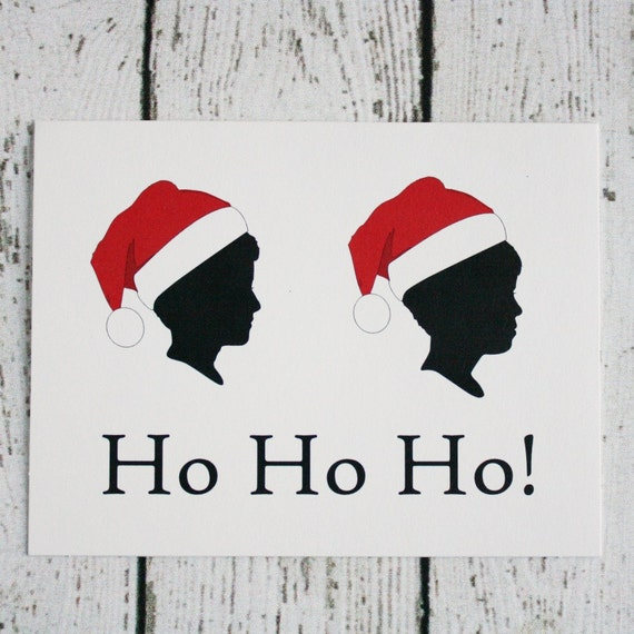 Items similar to personalized silhouette christmas card