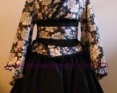 Lady Dark kimono dress wa lolita