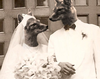 Fox Hollow Wedding 5x7 Anthropomorphic print