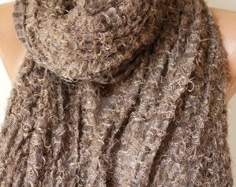 Motto, dark beige Shawl, wrap, very soft scarf, Christmas Gift