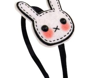 Bunny Headband - Stitched Rabbit Headband
