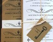Simple and Vintage Wedding Invitations