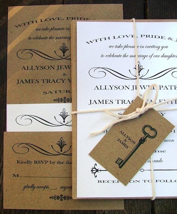 Cheap Shabby Chic Wedding Invitations: Simple And Vintage Wedding Invitations By Sweetinvitationco